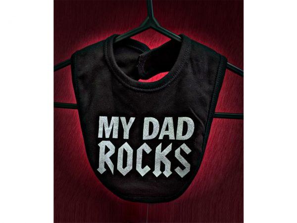 My Dad Rocks Baby Bib