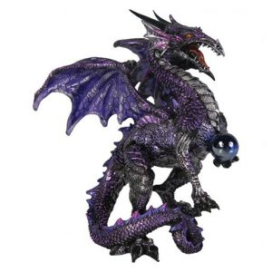 Purple Dragon Protector Figurine