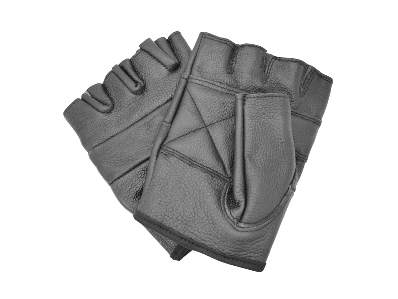 Leather Fingerless Biker Gloves Bullet 69