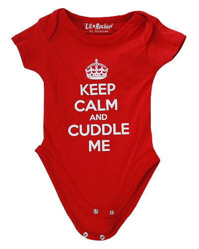 Keep Calm and Cuddle Me Baby Grow