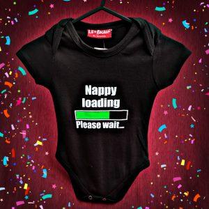 Nappy Loading Funny Baby Grow