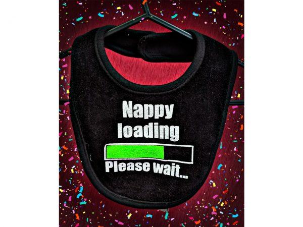 Nappy Loading Baby Bib