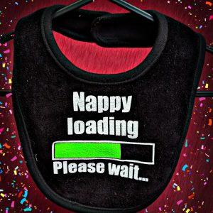 Nappy Loading Funny Baby Bib