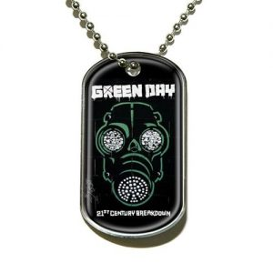 Green Day Dog Tag Necklace