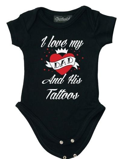 Love Dads Tattoo Baby Grow