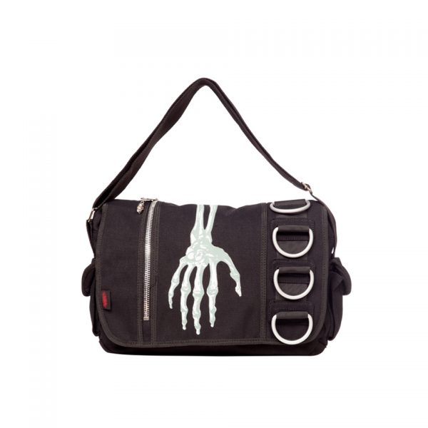 Skeleton Hand Bag Satchel Messenger Jawbreaker Banned Apparel