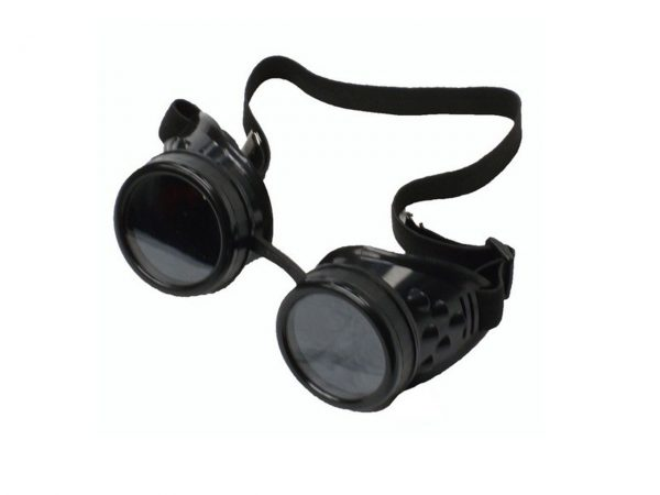 Poizen Industries Steampunk Cyber Goggles Black