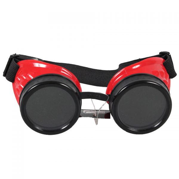 Poizen Industries Steampunk Cyber Goggles Red