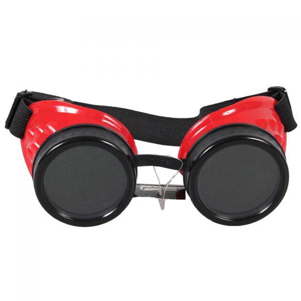 Poizen Industries Steampunk Cyber Goggles Red