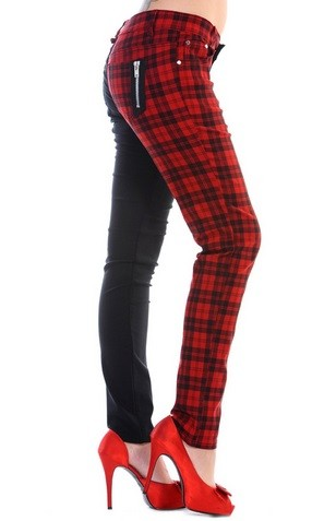 Tartan and Back Trousers
