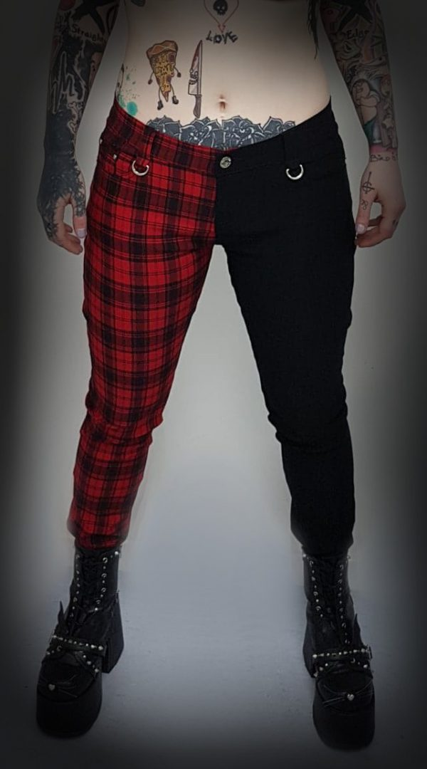 Red Tartan and Black Trousers