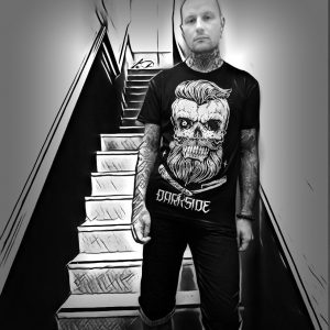 Bearded T from Darkside Clothing