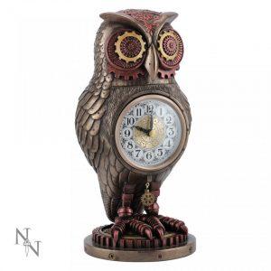 Tick Toot Owl Clock Steampunk