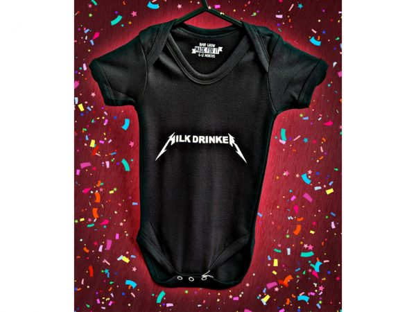 Milk Drinker Metallica Baby Grow Onesie