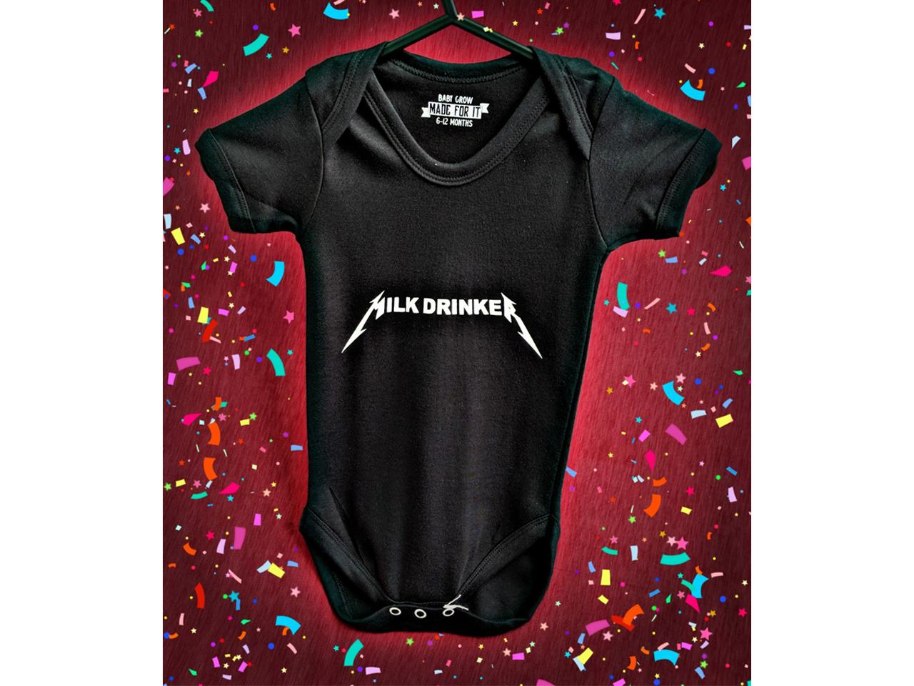 Milk Drinker Metallica Baby Grow Onesie