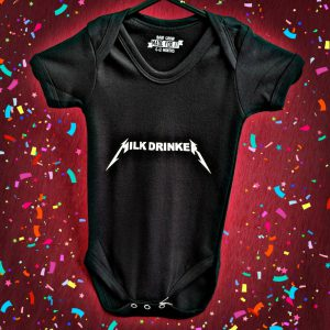 Milk Drinker Metallica Baby Grow