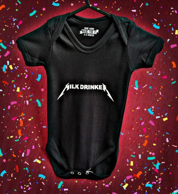 Milk Drinker Metallica Baby Grow