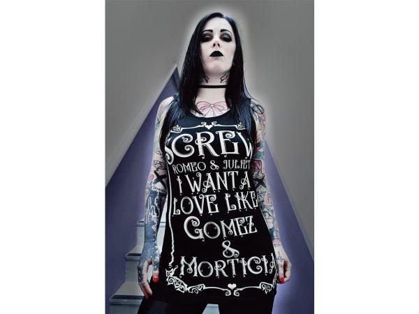 True Love Vest Top Addams Family