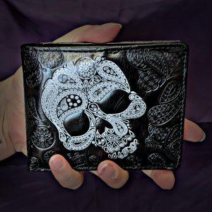 Mandala Style Skull Wallet