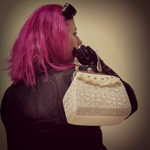 Small Cream Steampunk Handbag