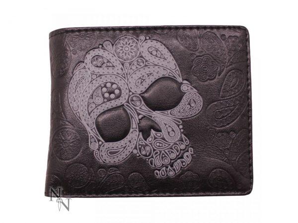 Paisley Abstract Skull Wallet