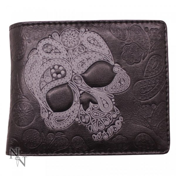 Paisley Abstract Skull Wallet