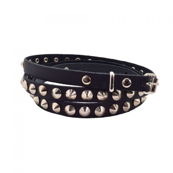 Bullet69 1 Row Conical Studded Skinny Belt