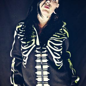 Glow In The Dark Skeleton Hood