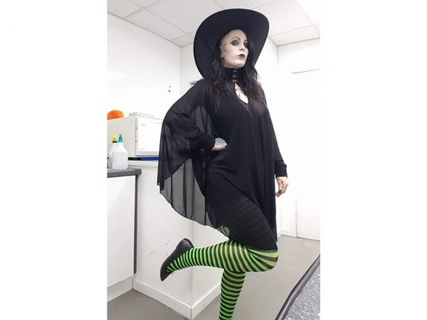 Green And Black Striped Tights