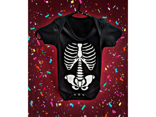 Skeleton Baby Grow Onesie