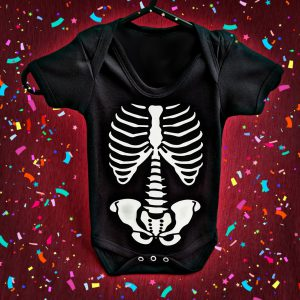 Skeleton Baby Grow