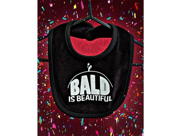 Bald Is Beautiful Baby Bib