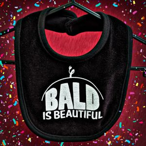 Bald is Beautiful Baby Bib