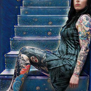 Lucy Grey Tie Dye Vest