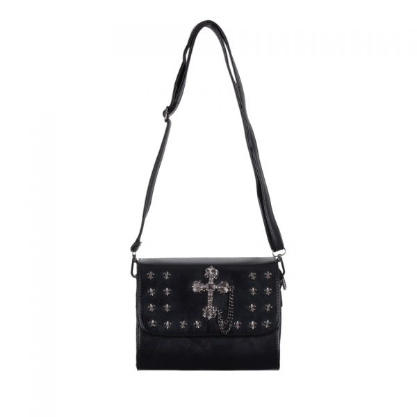 Black Gothic Cross Handbag Banned Apparel