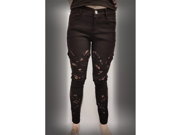 Keza Cat Cut Out Black Trouser
