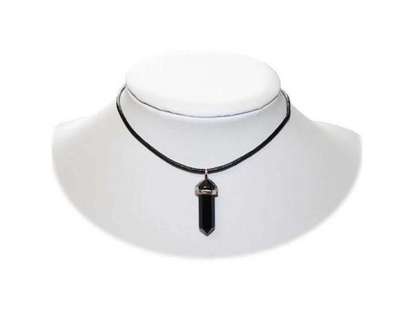 Black Onyx Crystal Choker Necklace Extreme Largeness