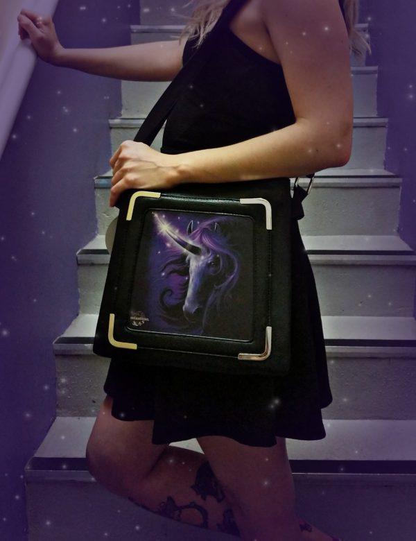 Black Magic Unicorn 3D Handbag