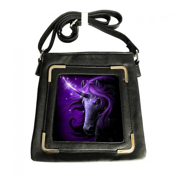 Black Magic Unicorn 3D Lenticular Handbag World Of 3D