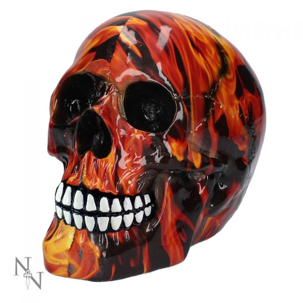 Inferno Fire Flame Skull Figure