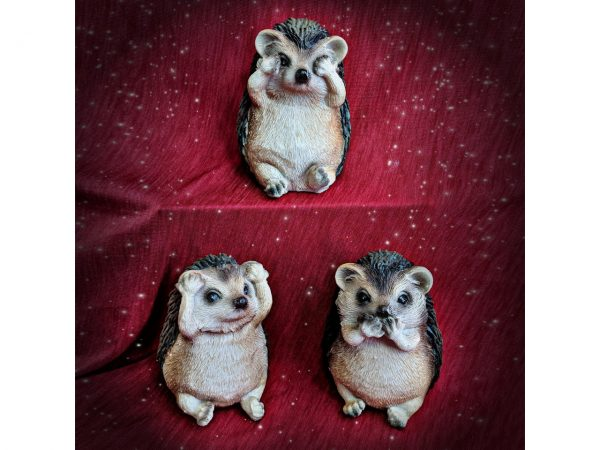 Three Wise Hedgehogs Confucius Figures