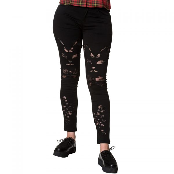 Keza Cat Cut Out Black Trouser