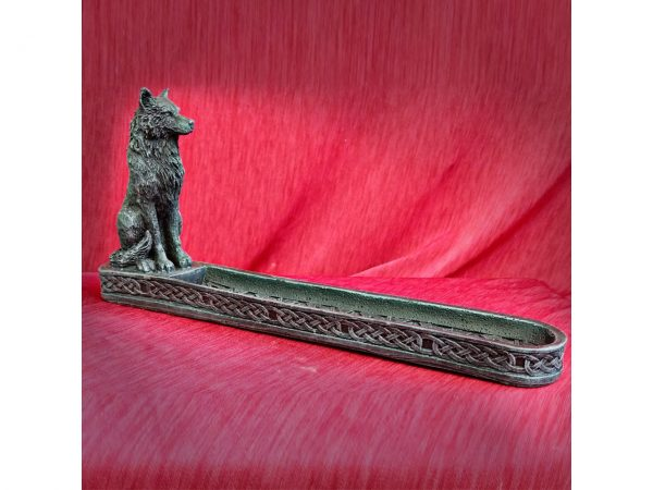 Catching the Scent Wolf Incense Burner