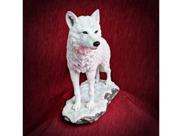 Winter Spirit Wolf Figure