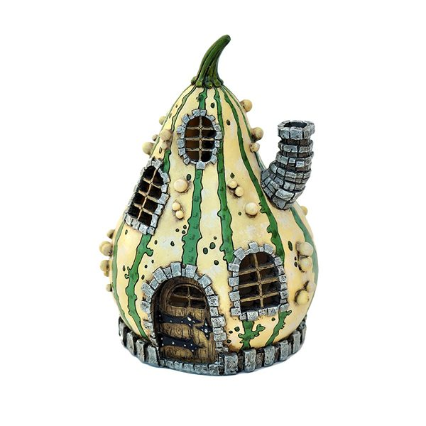 Striped Gourd Fairy Garden House