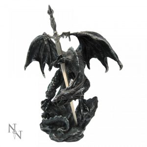 Black Dragon Sword Letter Opener
