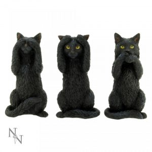 Three Wise Cats Figures