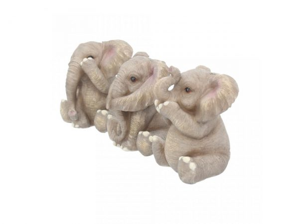 Three Wise Baby Elephants Figures