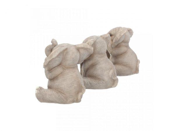 Three Wise Baby Elephants Figures