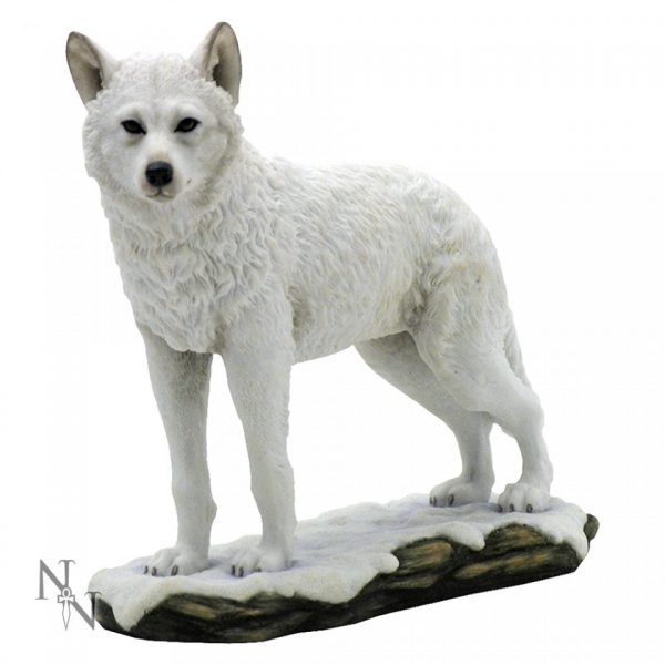 Winter Spirit Wolf Figure